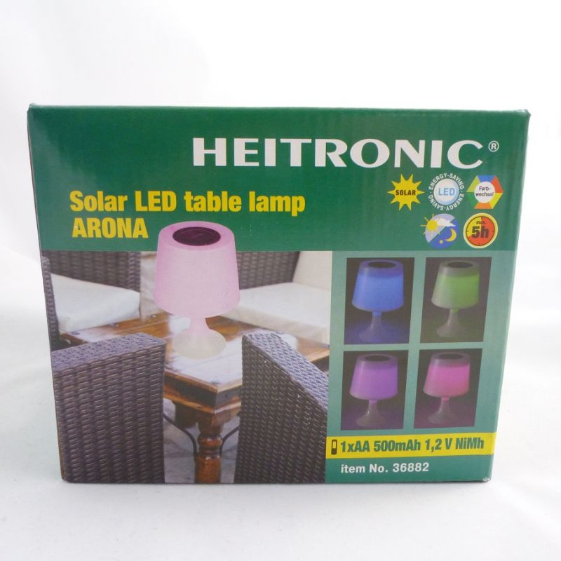 3x led tischleuchte solar farbwechsel inkl batterie solar licht garten tisch ebay. Black Bedroom Furniture Sets. Home Design Ideas