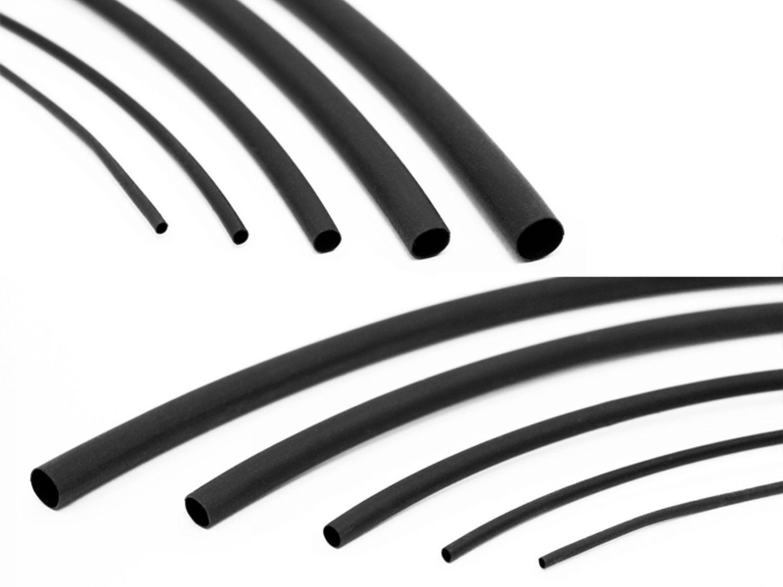 12mm Innen, 2m Schrumpfschlauch 2:1 Schwarz Auswahl aus 13 Gr/ö/ßen und 4 L/ängen Meterware