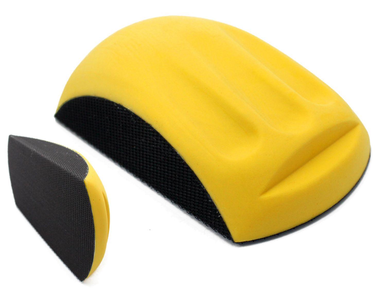 Handschleifblock gelb mit Klett (Schleifscheiben Ø150mm)