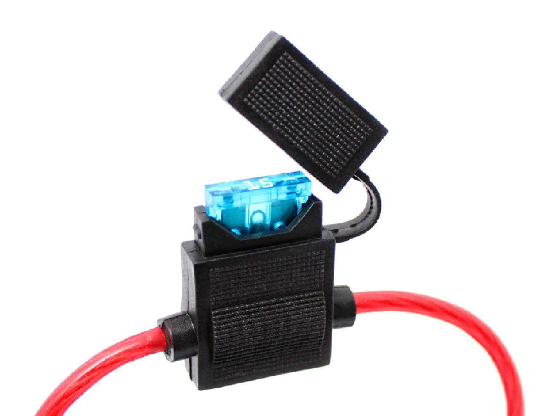 5x KFZ-Sicherungshalter ATC ATO IP56 WASSERDICHT 4mm² max 30A Flachsicherung