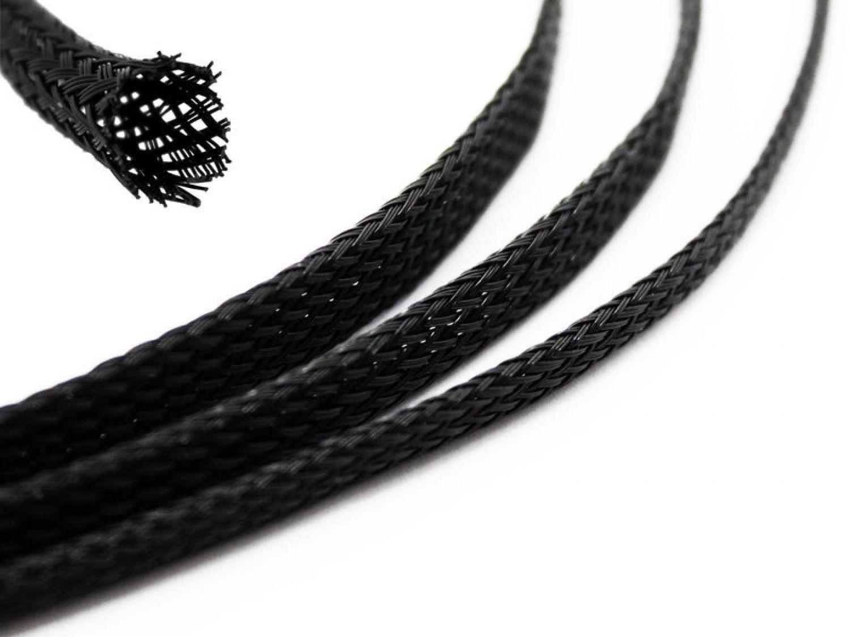 Gewebeschlauch Geflechtschlauch Kabelschutz Polyester 20-40mm 5m 30mm