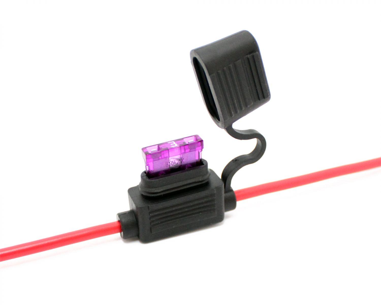 1x KFZ-Sicherungshalter ATC ATO IP56 WASSERDICHT 4mm² max. 30A ...