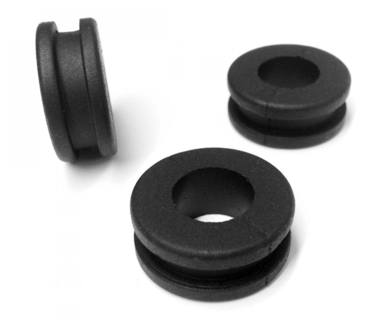 20 St.Kabeldurchführung  Gummitüllen 2mm für Bohrloch 5mm PVC Tülle
