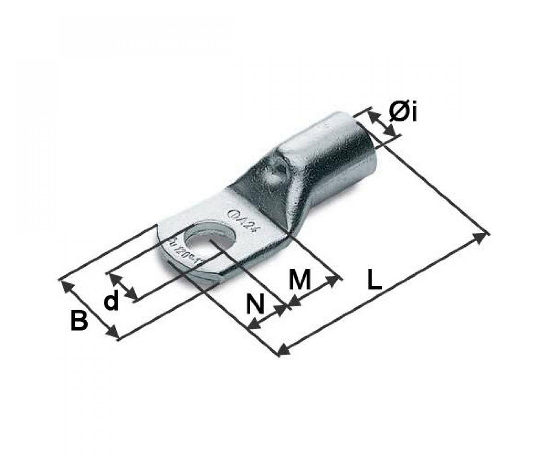10 Stück Rohrkabelschuhe 35mm² M10 (A7 M10) Kabelschuh
