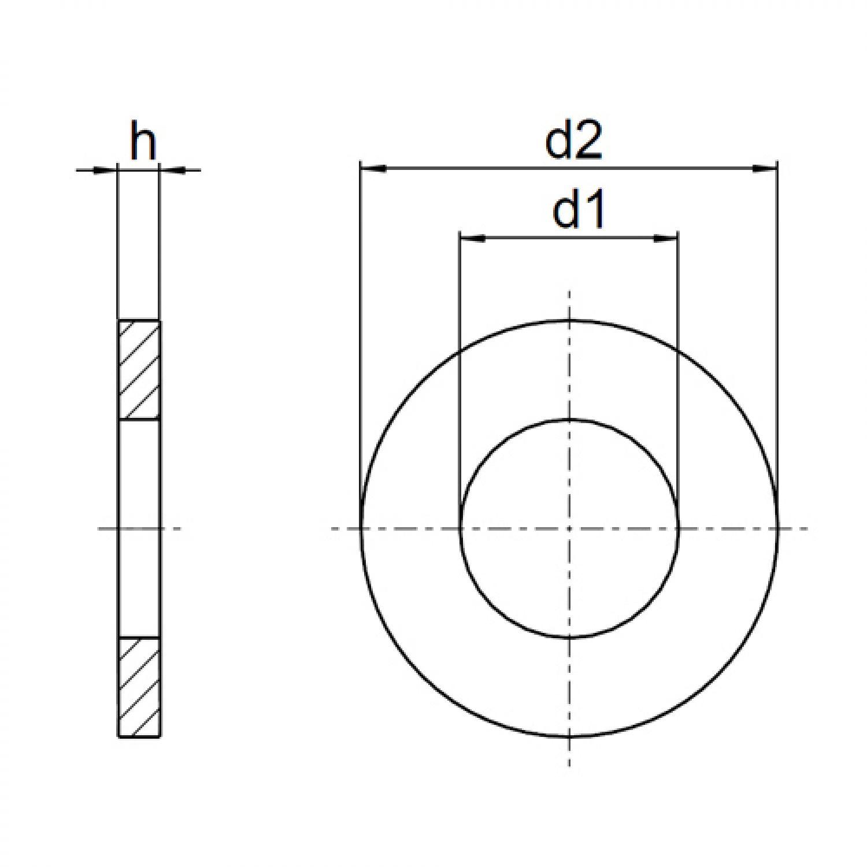 M20 U-Scheiben PA Unterlegscheiben DIN 125 Form A Polyamid Kunststoff M3