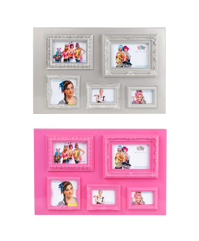 Bilderrahmen Collage Fotocollage Fotorahmen Vintage Foto Bilder pink ...