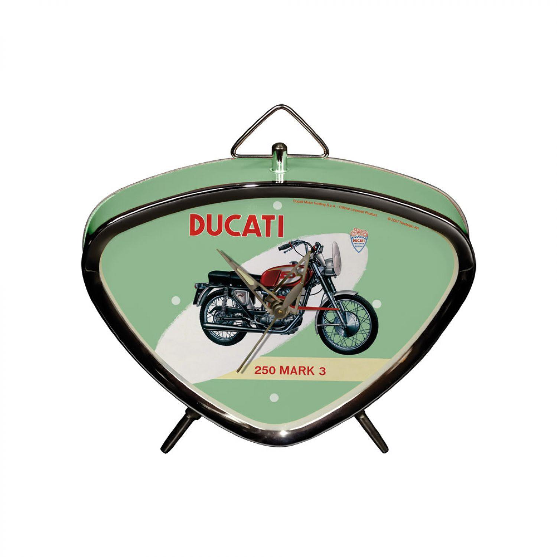 Wecker Nostalgie Kultwecker Wecker Uhrwerk Uhr Retro Look Ducati 60 ...