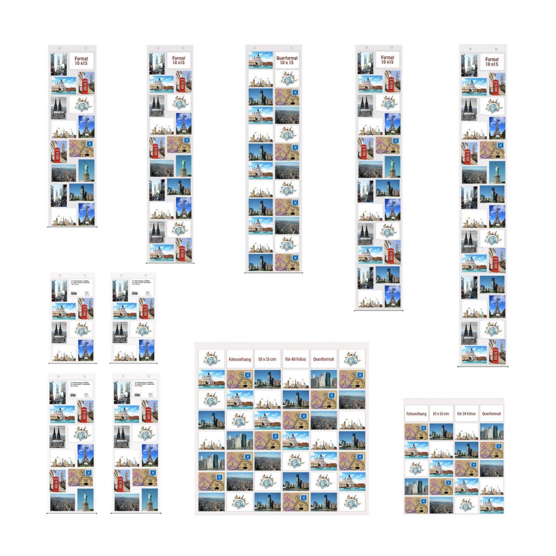 Fotohalter für 20 Fotos Bilderhalter Fotovorhang Fotoleiter Bilderrahmen