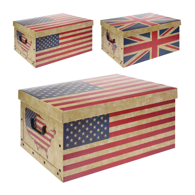Exquisit Ordnungsbox Mit Deckel Das Beste Von 2er Set Aufbewahrungsboxen Flaggen Tragegriff Und 50x39x24