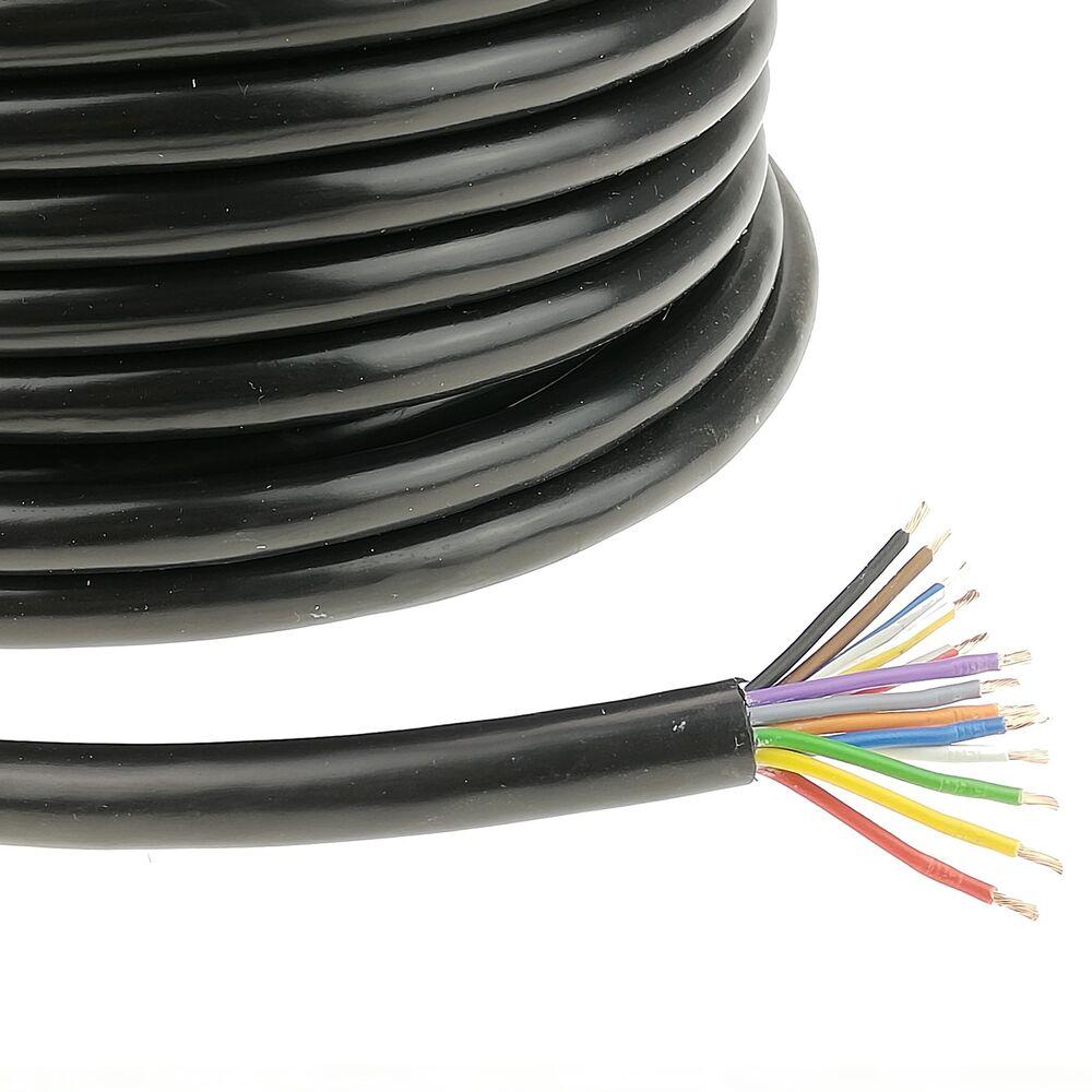 5 Meter Anhängerkabel 13 polig FLY 13x1,5mm² Kabel Anhängerleitung PVC 5,99€//m