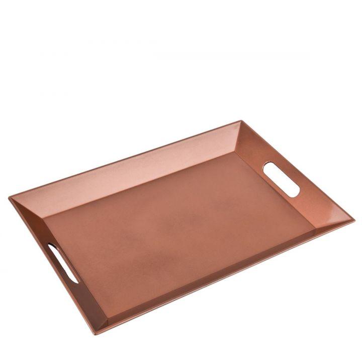 tablett rechteckig metallic xmas design kunststoff 4x40x27cm kupfer dekoschale ebay. Black Bedroom Furniture Sets. Home Design Ideas