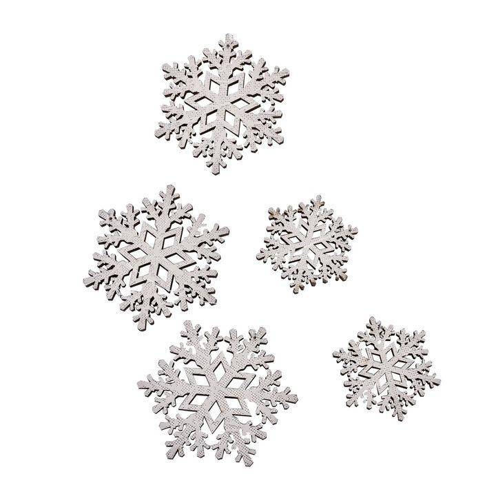 Girlande Weihnachten 2er-Set L120cm Filz grau