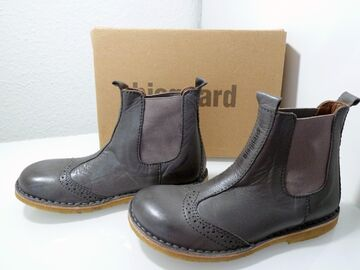 Bisgaard Children Shoes Girl Boots Leather Chelsea Boot Grey