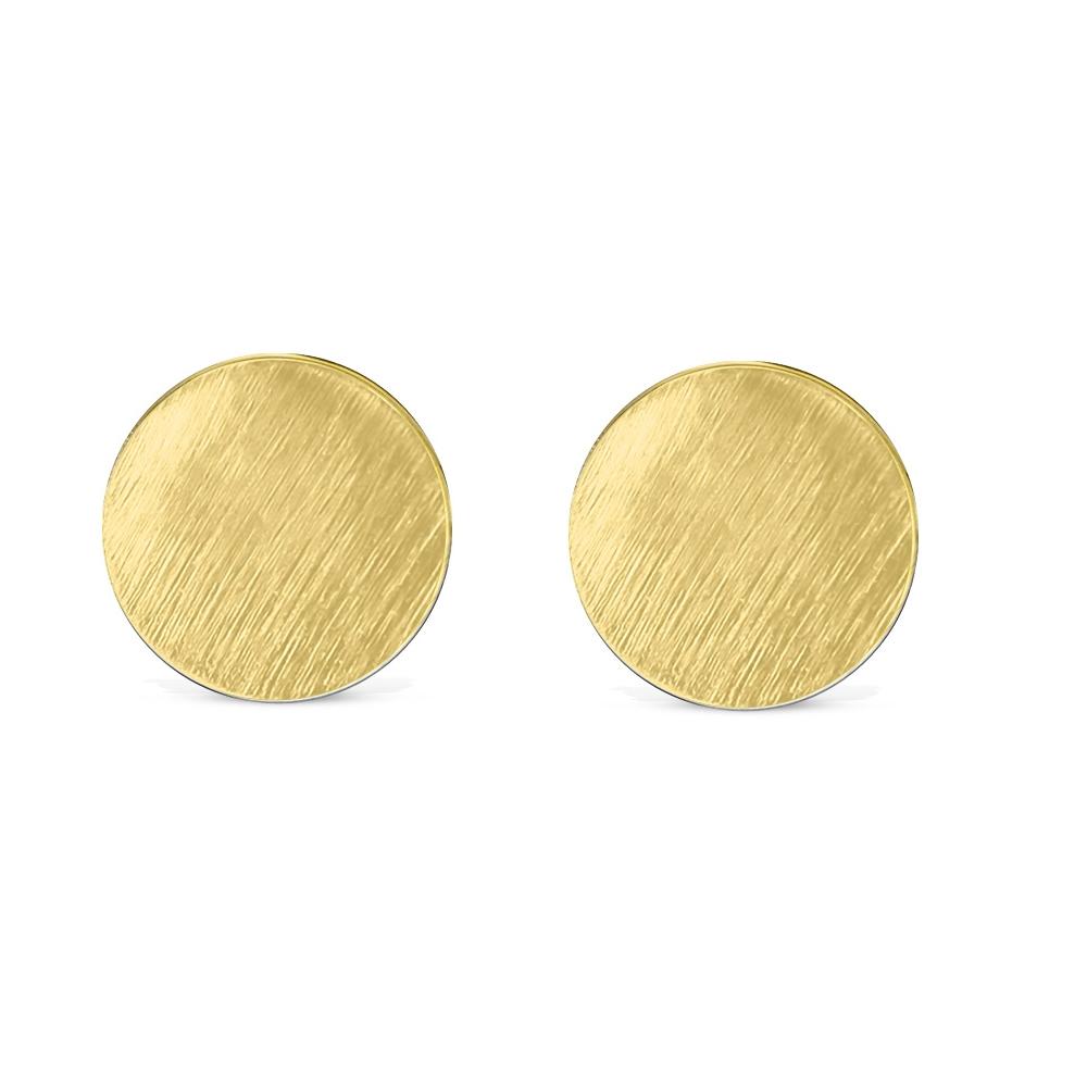 Ohrstecker-rund-gebuerstet-Silber-Rosegold-Gold-Edelstahl-Damen-klassisch-Ohrring Indexbild 18