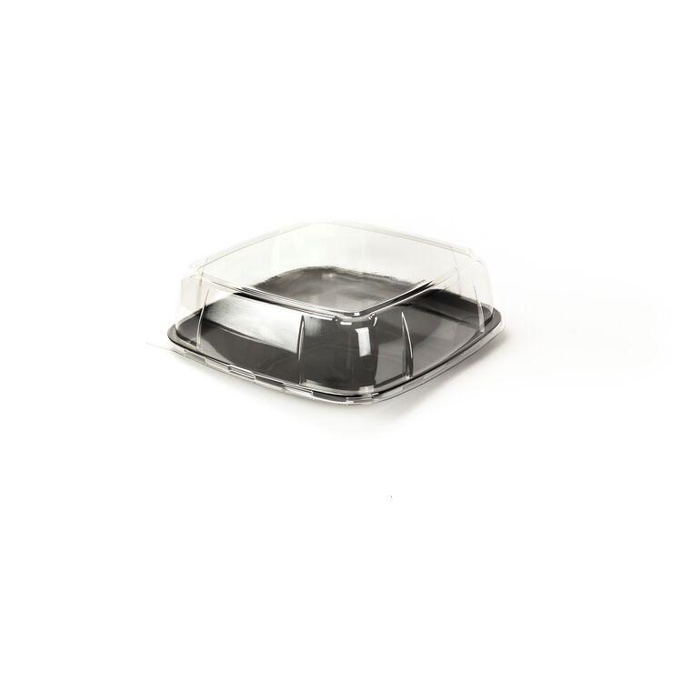 Deckel Plastik Einweg transparent für Servierplatte Silverkitchen 30 x 30 x 9 cm