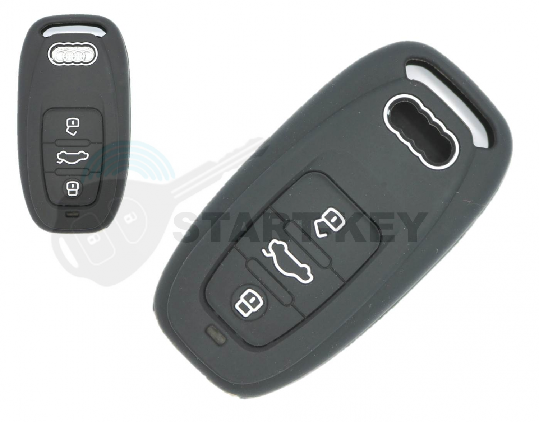 Audi Schlüssel Hülle Cover case A1 A3 A4 A5 A6 A7 A8 Q7 Q3 Q5 Keyless Go