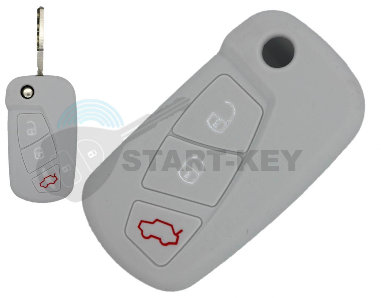 Clé de rechange clé funk-Boîtier 3 touches pour Ford Modèles