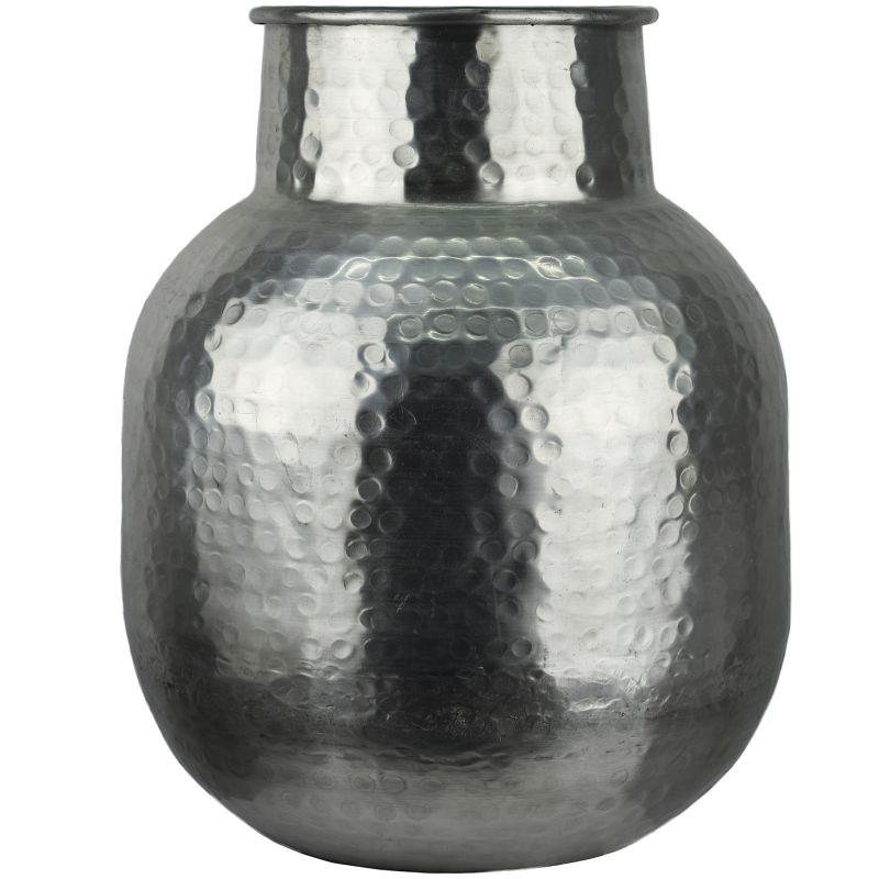 Vase Aluminium Gehammert Dekovase Hammerschlag Metall Vasen