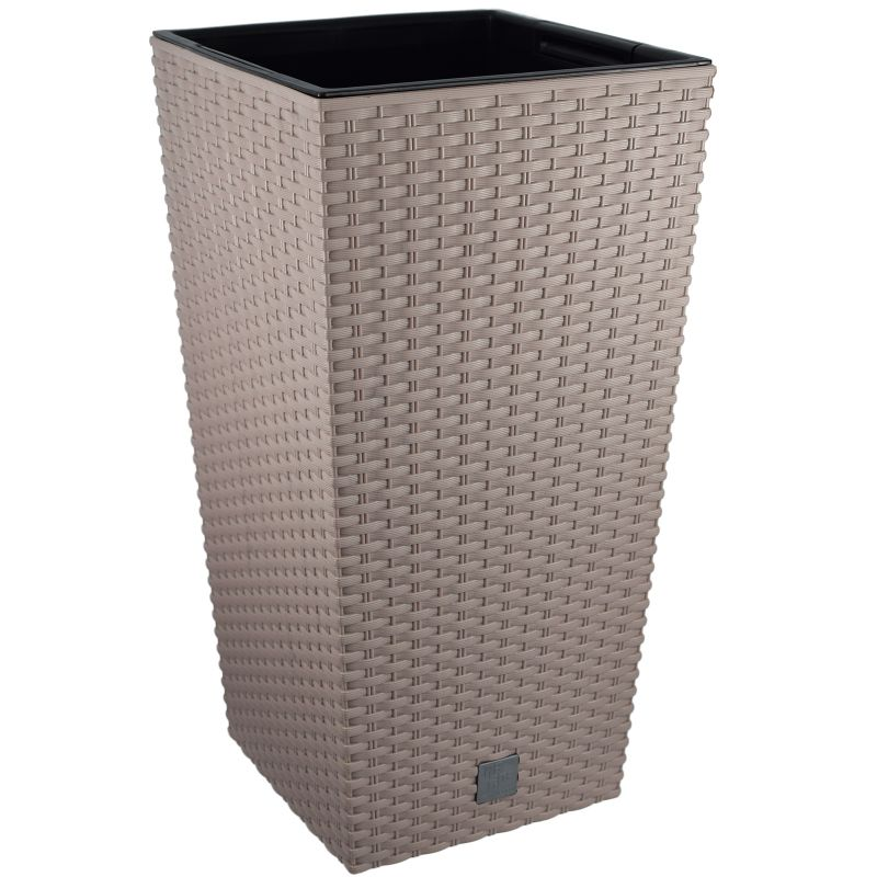 blumenkasten balkonkasten blumentopf rattan pflanzkasten blumenk bel 50 cm ebay. Black Bedroom Furniture Sets. Home Design Ideas