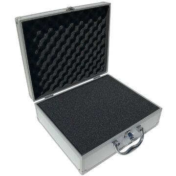 Aluminium Koffer Schwarz Würfelschaum LxBxH 300x250x100 mm Werkzeugkoffer Leer