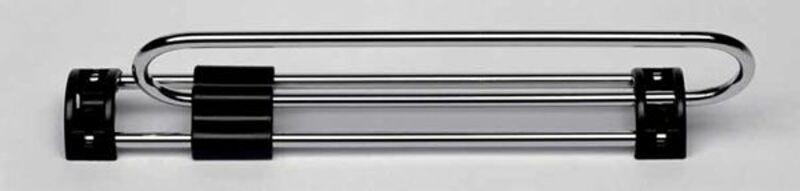 35cm Auszugl/änge schwarz verchromte Rohre Garderobenauszug Kleiderstange Kleiderl/üfter B/ügelhalter