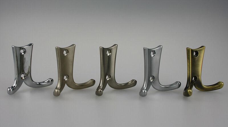 Nickel matt Kleiderhaken Mantelhaken Huthaken Garderobenhaken verschiedene Farben H/öhe 113mm