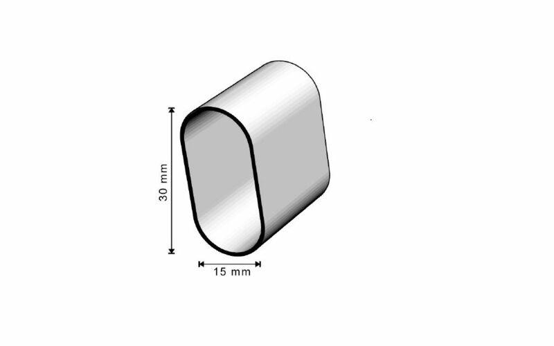 Penderie schrankrohr ovalrohr 1,25 Mètre Chrome