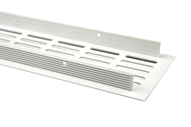 Aluminium L/üftungsgitter Stegblech Weiss pulverbeschichtet H/öhe 130mm x 600mm