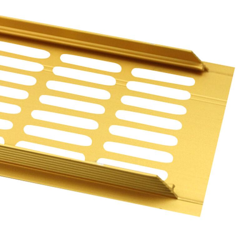 Aluminium Lüftungsgitter Stegblech Heizungsdeckel Abluft Gitter Gold 60x400mm F3