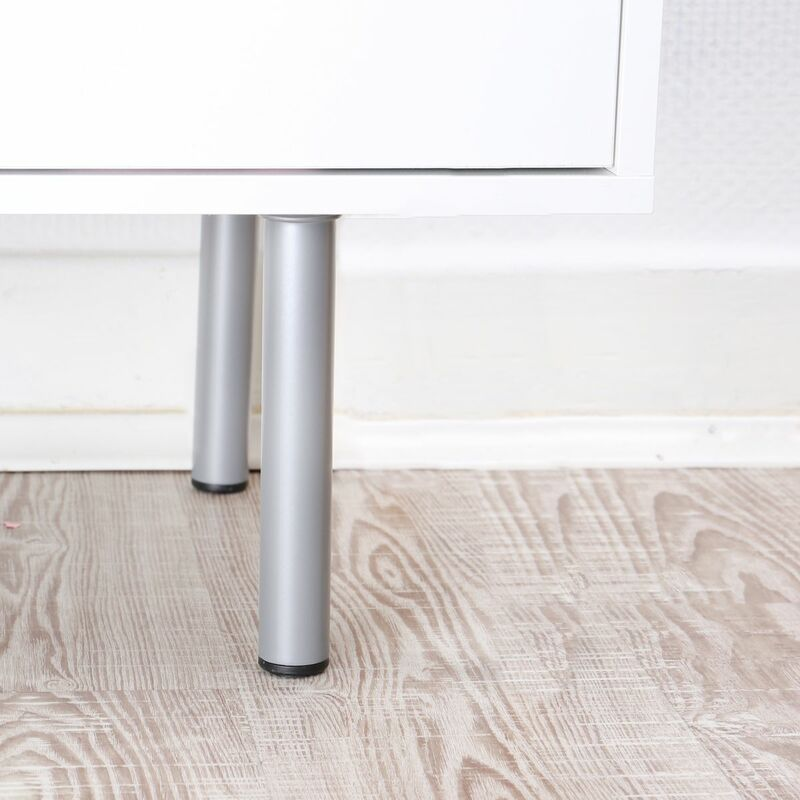 Möbelfuss Tischbein Sofafuss Weiß Silber oder Schwarz Rund ø 30mm diverse Höhen