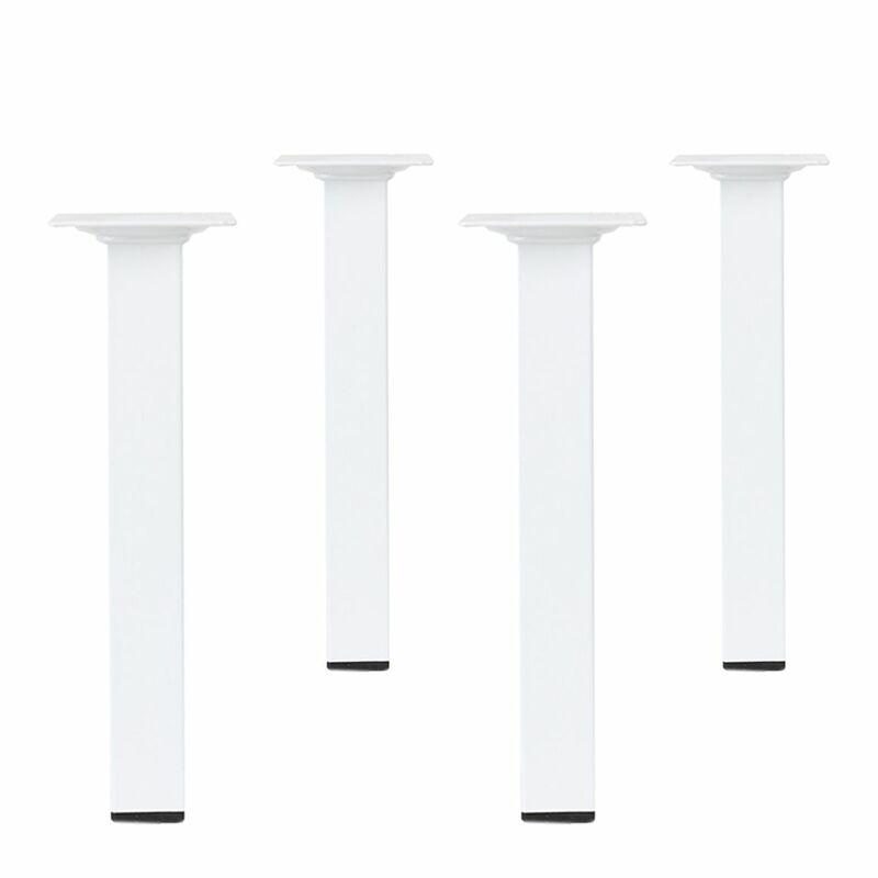 Möbelfüße Metall Eckig.Details Zu Weiße Möbelfüße Eckig 4er Set 25 X 25mm Höhe 400mm Tischfüße Möbelbeine Metall