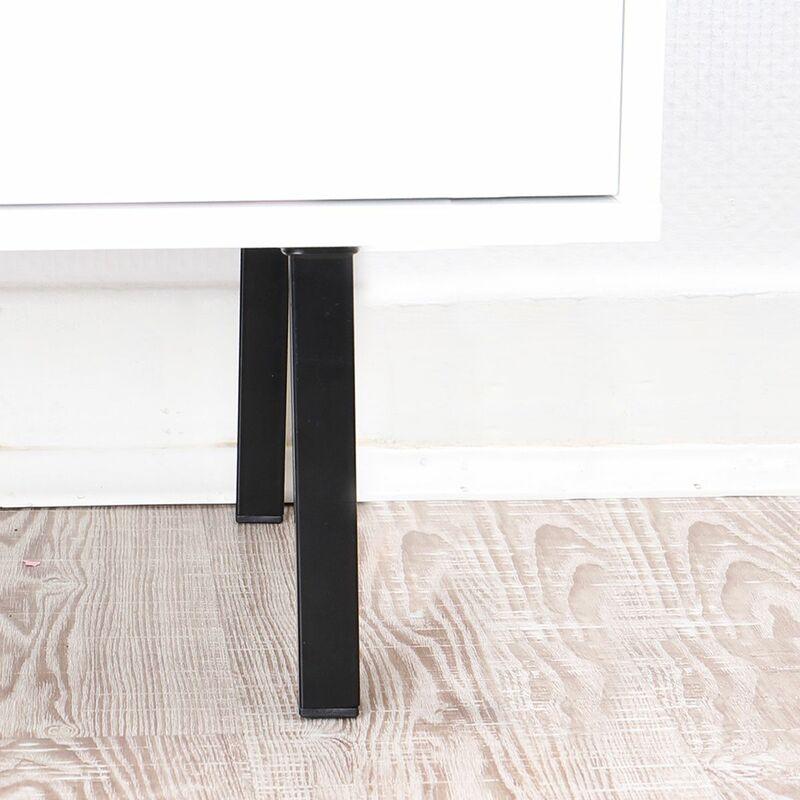 4er Set runde schwarze Tischbeine Höhe 600 mm ø 30 mm Möbelbeine aus Metall