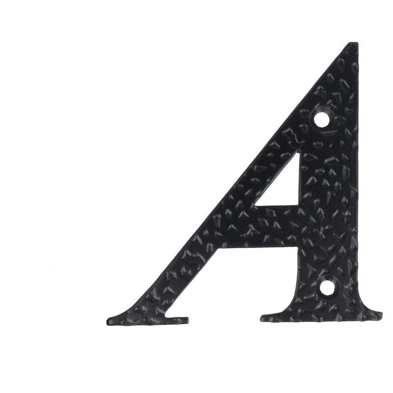Buchstabe A Hausnummern 0-9 Buchstaben A-H schwarz beschichtet Hausziffern Hauswandnummern Wandnummern Zimmert/ürnummern Landhaus-Stil schmiedeeiserne Optik
