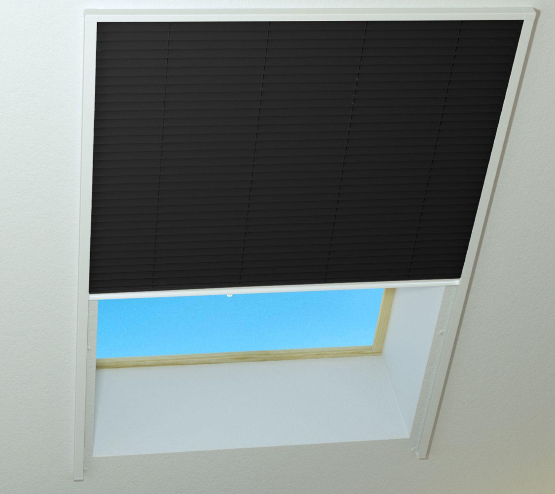 sonnenschutz für dachfenster plissee alu-rahmen wärmeschutz