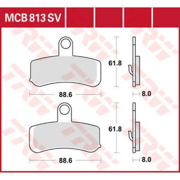 TRW MCB813SV Pastillas de Frenos
