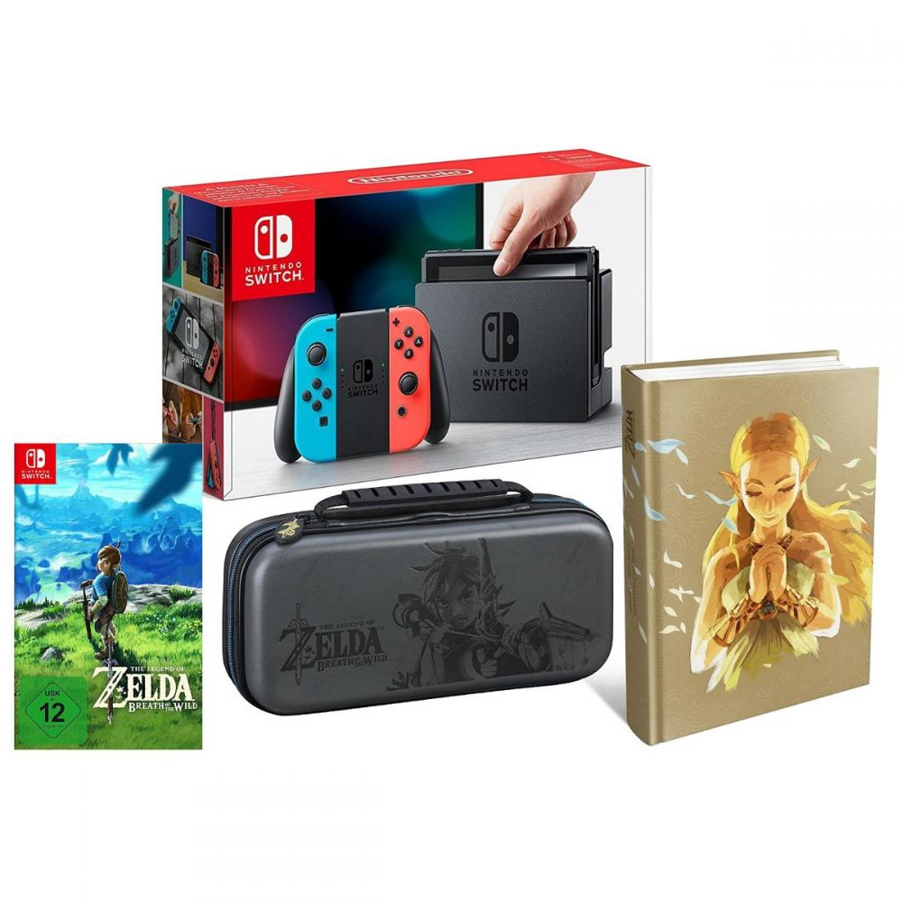 Nintendo Switch Sd Karte Maximale Größe.Details Zu Switch Konsole Neon Zelda Breath Of The Wild Lösungsbuch Tasche Bundle Set Neu