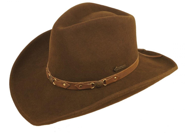 Scippis Bandit Wollfilz Countryhut Cowboyhut Westernhut Reiterhut Wolle braun