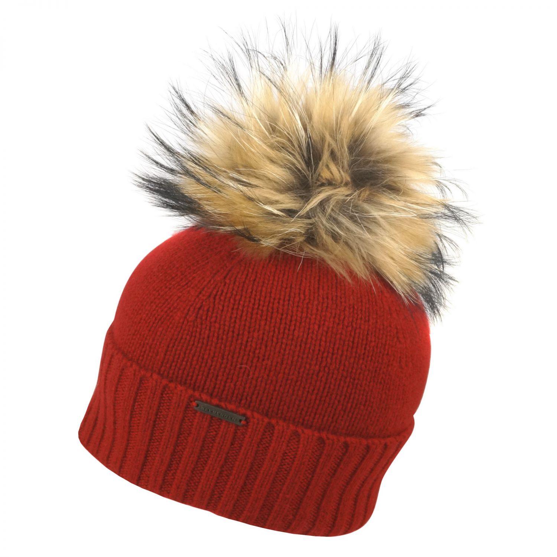 Seeberger Stirnband Damen Ohrenschützer Wolle Wollmix mit Pompoms Innenfleece