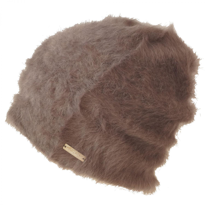 Seeberger Damen Angora Headsock Beanie Wolle Wollmütze Tierhaar Hase Longbeanie