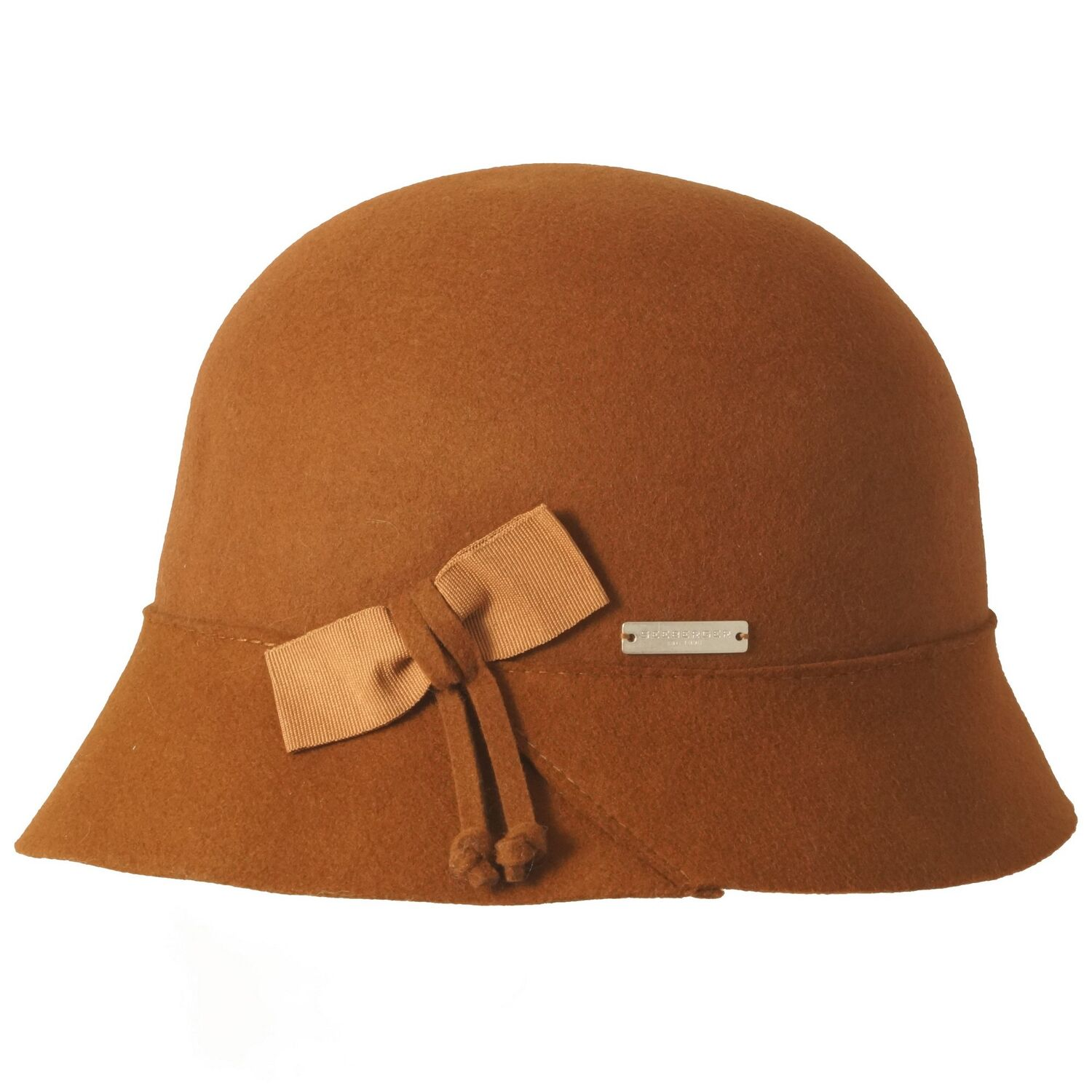 Seeberger Bowed Wool Damen Hut Filzhut 100/% Wollfilz Damenhut Cloche Glockenhut