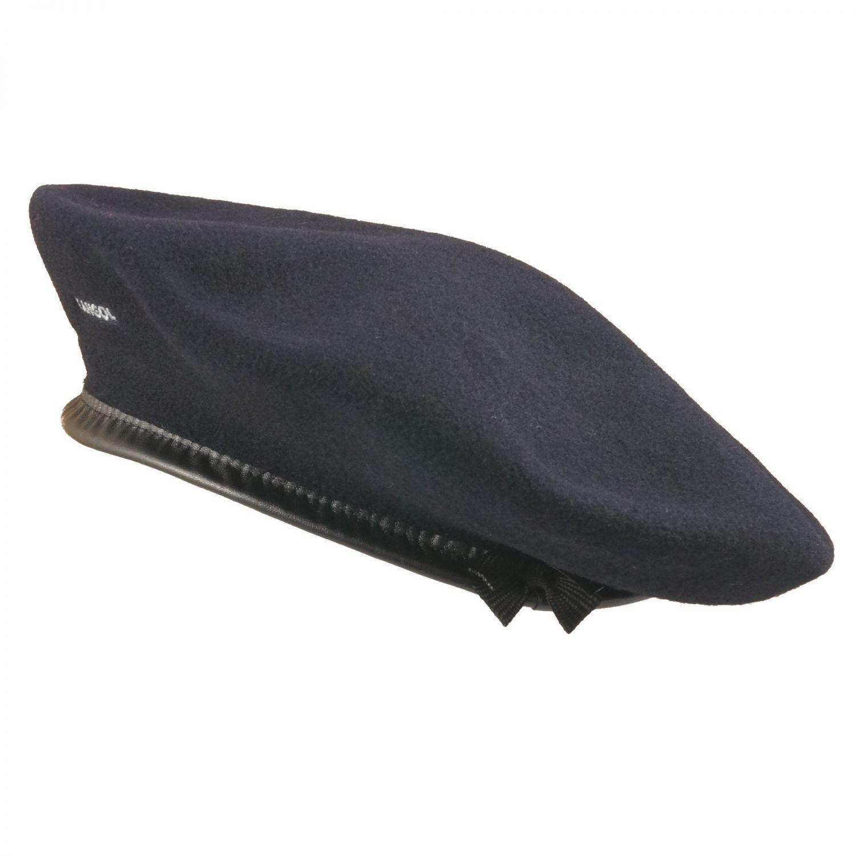 Original KANGOL Baske blau Baskenmütze Mütze Military Barett Wintermütze Wolle