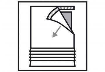raffrollo mit klettband farbe schwarz weiss querstreifen gewebt halbtranspa ebay. Black Bedroom Furniture Sets. Home Design Ideas