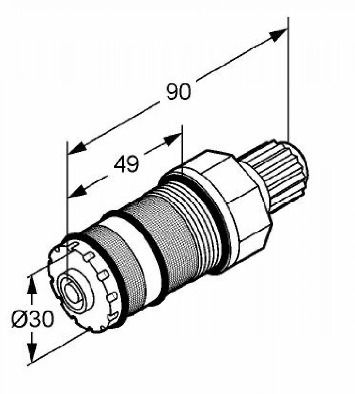 KLUDI 76729 Thermostat Regeleinheit Einsatz für Thermostat Ersatzteil