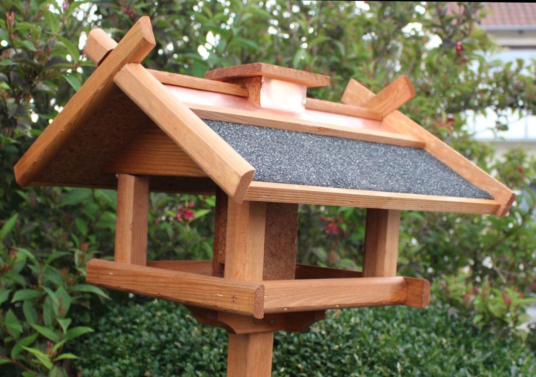 vogelhaus 155 cm mit kupferdach und stabilem standfuss futterstation futtersilo ebay. Black Bedroom Furniture Sets. Home Design Ideas