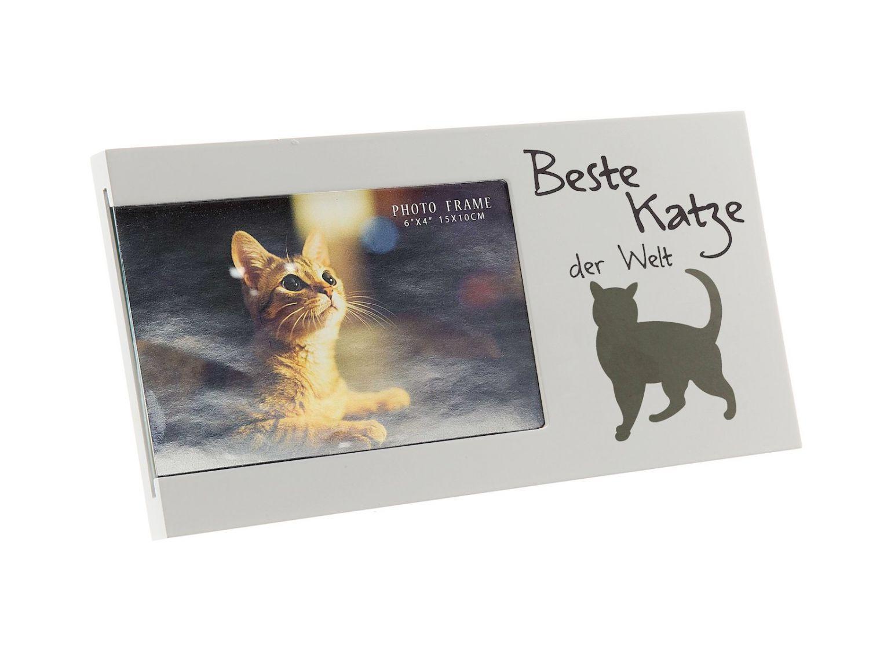 Bilderrahmen beste katze der welt f r foto 10 x 15 cm wei ebay - Glasscheibe fur fenster ...