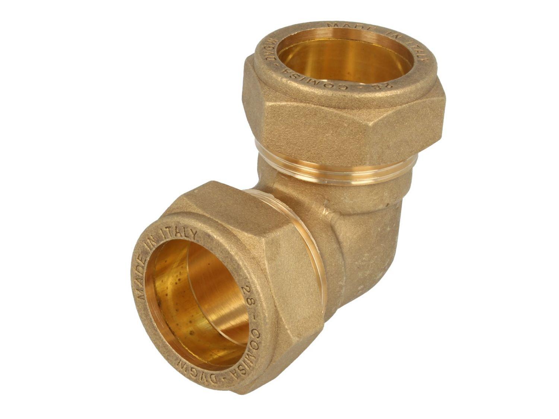 Winkel-Verschraubung für Ø 10 mm Rohr mit Überwurfmutter ms verchromt