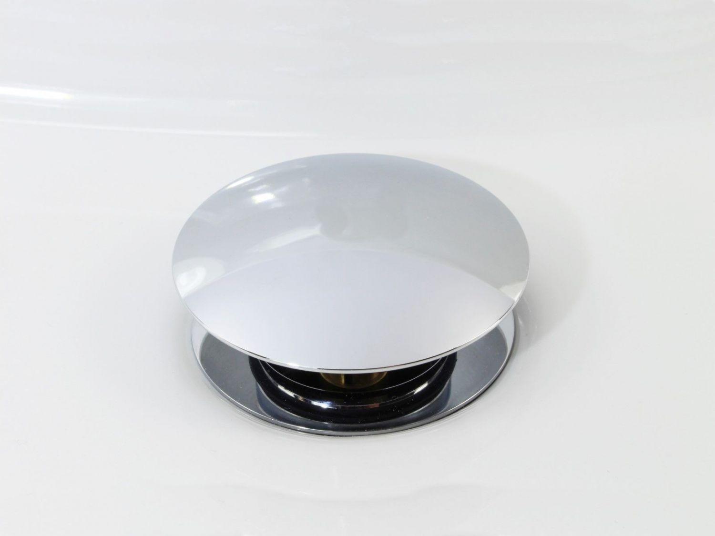 click clack ablaufgarnitur chrom mit pushfunktion f r waschbecken ohne berlauf ebay. Black Bedroom Furniture Sets. Home Design Ideas