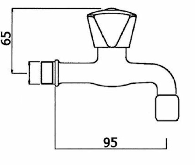 lange Ausf/ührung mit Ausladung 160 mm kalt//warm Auslaufventil classic line