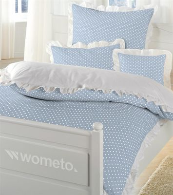 bettw sche r schen baumwolle 135x200 landhaus vintage grau beige wei rosa punkt ebay. Black Bedroom Furniture Sets. Home Design Ideas