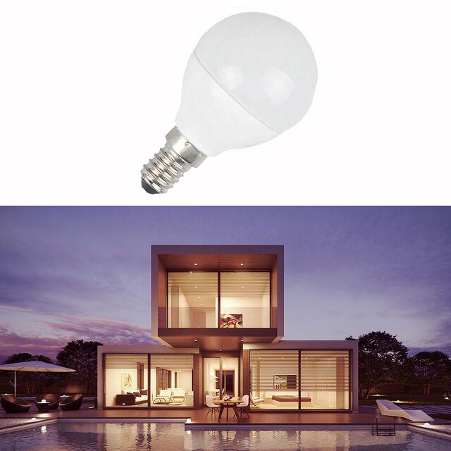LED Leuchtmittel Tropfenlampenform Birne G45 Big Angle E14 6W Tageslicht